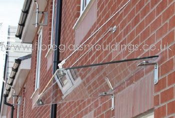 GC1067 Flat Glass Canopy with 80° fall Hangers