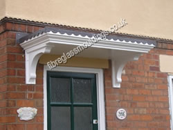 Georgian Overdoor Canopy Scalloped