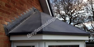 Fifty Pence Lead Effect Porch Canopy