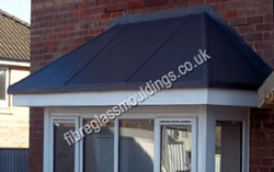 Hipped Lead Effect Square Bay Canopy