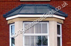 Hipped Lead Effect Splayed Bay Canopy